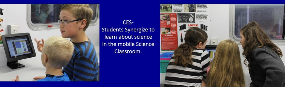 CES Students exploring Science in the Mobile Science Lab.