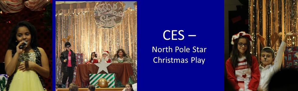 CES Students showing their acting skills in the North Pole Star.