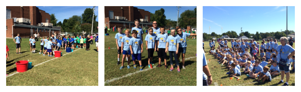 West Marion Elementary 5th grade students compete in Slop the Hog in Lebanon.