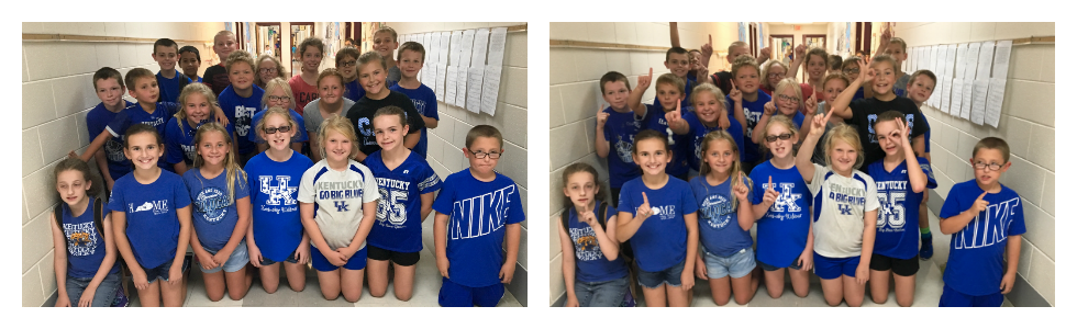 Mrs. Lori Scott's class at West Marion Elementary on National College Colors Day