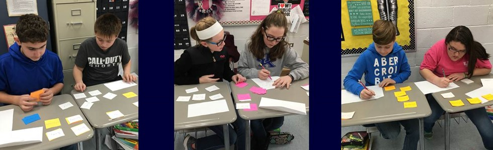 Learning Centers for Algebraic Expressions Unit in Mrs. Farmer's SCMS 6th grade Math class