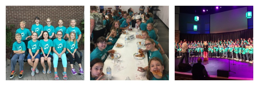Chorus members from WMES participated in KMEA 4th District Children's Chorus 9-24-16