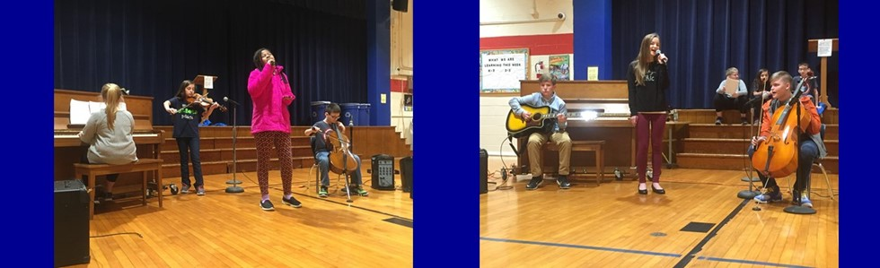 The Jr. Beta groups from Glasscock & Lebanon Middle performed at Glasscock's Morning Meeting. The three middle school students are all former Bulldogs! #bulldogsaretalented #glasscockelementary