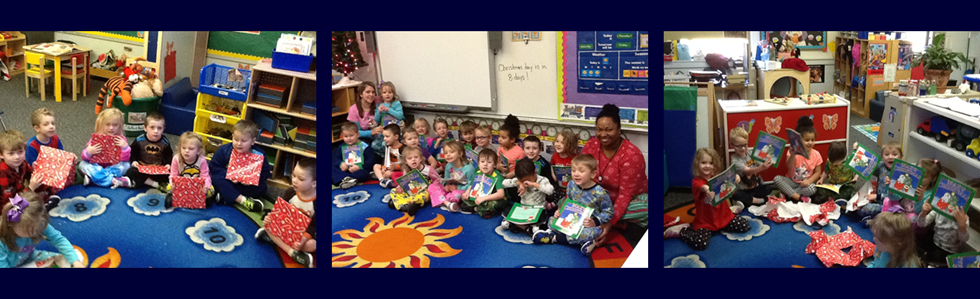 Lebanon Elementary School preschool students are excited about the new books they received!