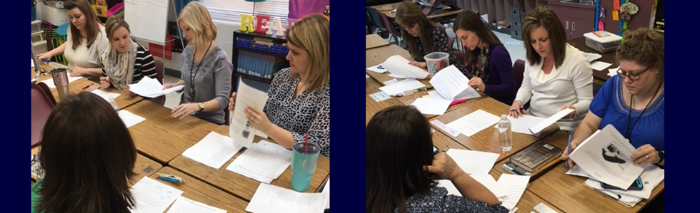 Calvary Elementary teachers calibrate scoring with Science TCT's.