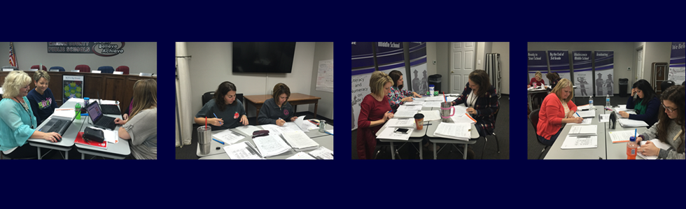 MCPS 4th grade teachers met today to calibrate their scoring on a recent 4C's (Collaboration, Critical Thinking, Creativity, and Communication) writing project.  The district is one of 37 other school districts across the United States that were selected to participate in the project.