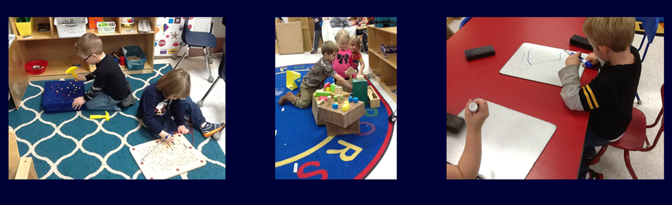 West Marion Elementary preschool students hard at work!