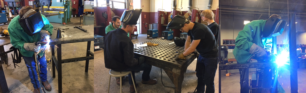 MCATC student welders collaborate and work on multiple projects.
