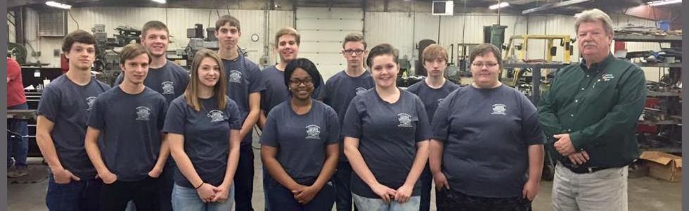 MCATC January 2016 Students of the Month visit Central Kentucky Tool.