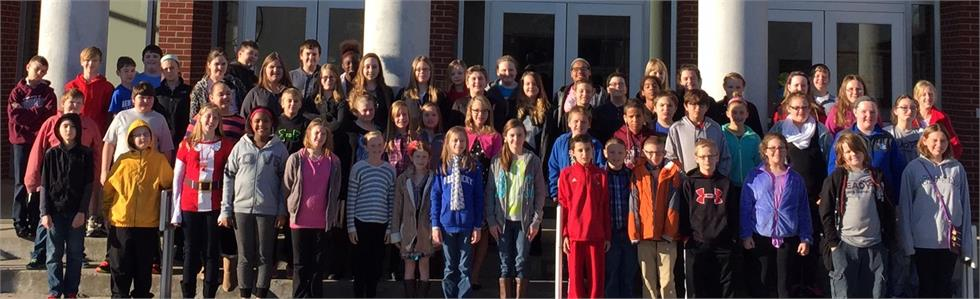 60 Marion County middle school band  students traveled to Campbellsville  University to attend the School of Music Christmas Tapestry concert.