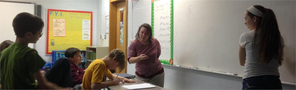 SCMS GT students enjoy a challenging math game with Mrs. Dawn Phillips, MC GT instructor.