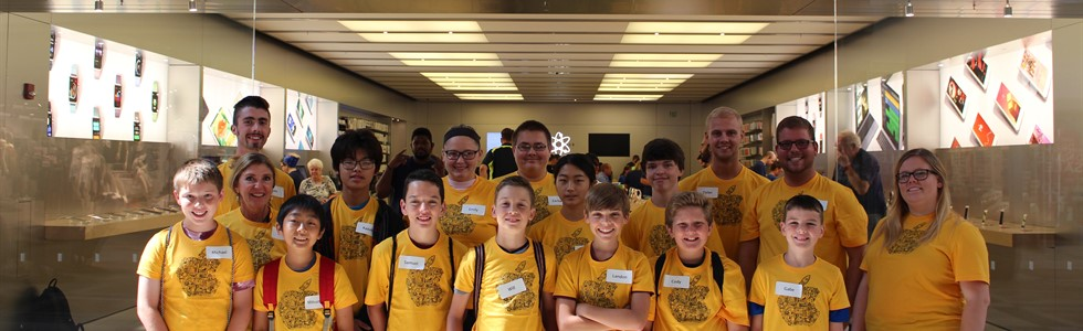 The Marion Institute of Technology Summer Program visited the Apple Store in Louisville and created advertisements using iPads.