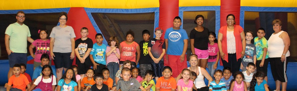 The 21st Century/Migrant summer program visits Kid-Wise Bounce in Campbellsville, KY.