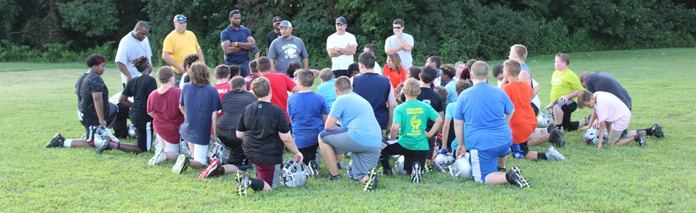 Marion Middle Football Team-Dreaming BIG - working on the details!