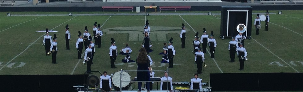 Marion County Marching band performing at the Pulaski County invitational where they won second place in their AAA class.