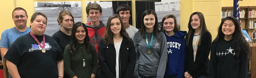 The JV Academic Team competed at LaRue County High School on November 12.