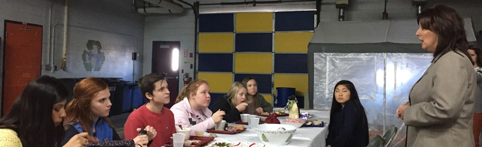 Marion County District Attorney Lisa Nally-Martin spoke with MCHS students on Thursday, December 1, 2016, during Cafe Chat. The program offers students the opportunity to visit with practitioners from various career fields during their lunch period.