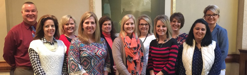 Marion County Public Schools presented at the Next Generation Leadership Network Conference in Lexington on January 20, 2017. The group shared its work with Professional Learning Communities with 200 Kentucky teachers and administrators. Pictured are: L-R Troy Benningfield, Laurie Followell, Dana Thomas, Tara Tatum, Shelley Badgett, Olivia Raley, Tammy Newcome, Sarah Hutchins, Sara Brady, Kelly Allen, Taylora Schlosser.