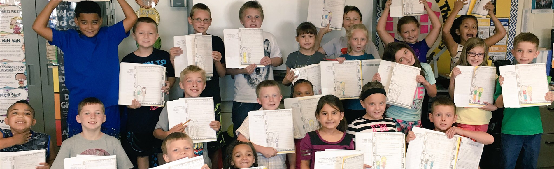 Students in Mrs. Smith's 3rd grade class created their Personal Mission Statements for their Leadership Notebooks. #webelieveinGES