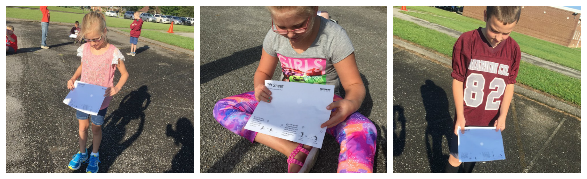 Mrs. Thomas' 4th grade science classes at WMES made pinhole projectors and and practiced using them so they can safely experience the Great American Solar Eclipse on Monday!