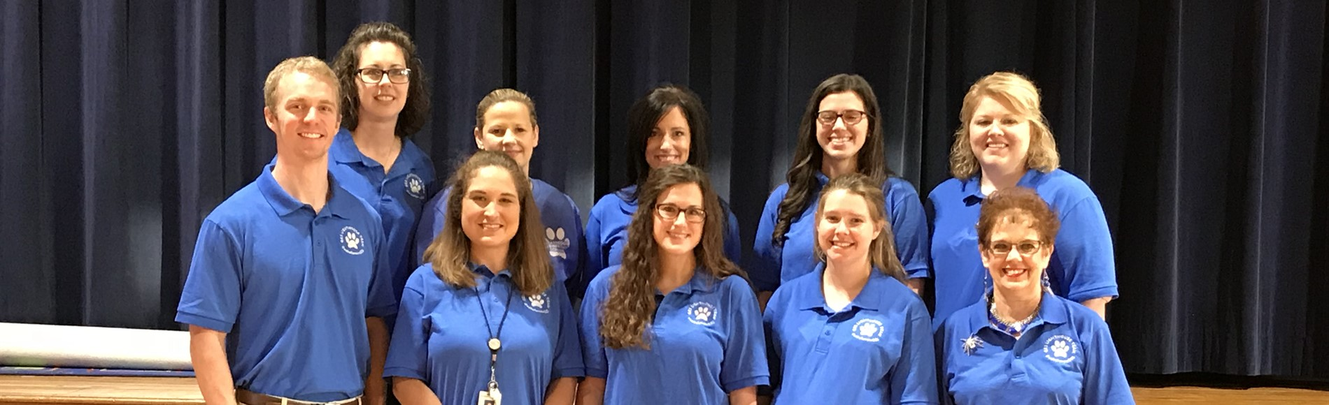 2017-2018 Lighthouse Team. (front) Matthew Reed, Amanda Carrico, Daily Goatley, Sydney Cox and Annette Dennison. (back) Lee Morgeson, Alicia Kelly, Angie Akers, Abby Smith & Kellie Wise. #webelieveinGES