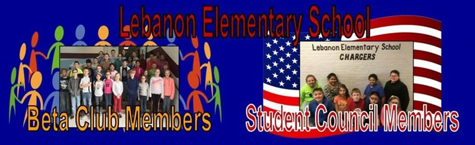 Lebanon Elementary Beta Club and Student Council Members