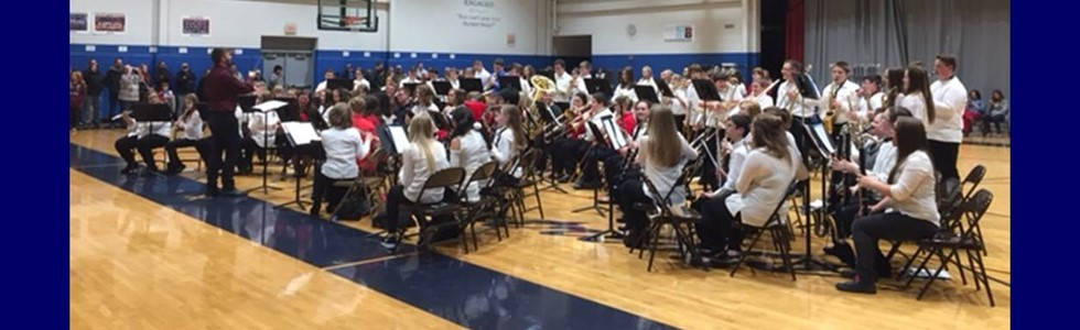 MCPS band students in grades 7-12 performed together at the district holiday concert on Monday, December 12.
