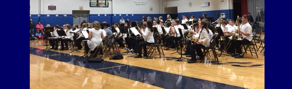 Marion County Public Schools sixth grade beginning band students, numbering over 100, performed during the district's county band holiday concert featuring student musicians from Lebanon Middle, St. Charles Middle, and Marion County High on Monday, December 12, 2016, at LMS.