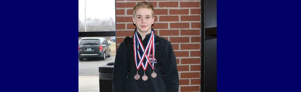 Matthew Miles, 7th grader at LMS  participated in Regional 3 swim meet this past weekend.  The MCHS relay team consist of  Justin Spalding(12th), Brandon Miles(11th), Eli Nelson(9th) and Matthew Miles(7th).  The team placed 3rd in the 200 medley and 4th in the 200 freestyle relay.  Matthew went on to medaled also in the individual 200 IM placing 7th overall.