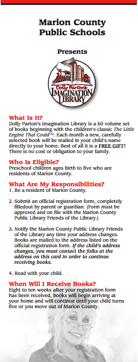 Dolly Parton Library Flyer