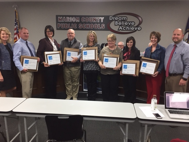 School principals are their Energy Star certificates