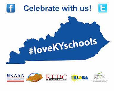 #loveKYschools graphic